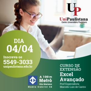 Extensão UniPaulistana - Excel Avançado